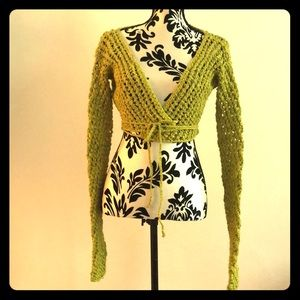 Elm design knit mesh crop top